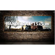 Banderoll 15x5 meter - Komplett!