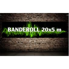Banderoll 20x5 meter - Komplett