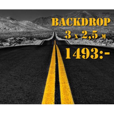 Backdrop / monterbakgrund - 3x2,5 m