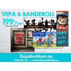 VEPOR & BANDEROLLER - 199:-/m2
