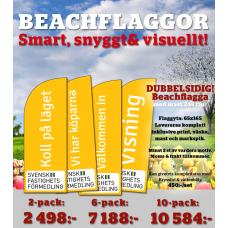 KAMPANJ! Beachflagga small i flerpack