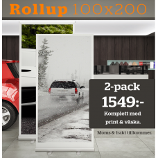 2-pack Rollup ECO Frontlit - 100x200