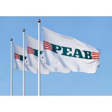 Flagga för stång 240x150, egen design - 12-pack